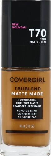 CoverGirl Trublend Matte Made T70 Caramel Foundation Perspective: front