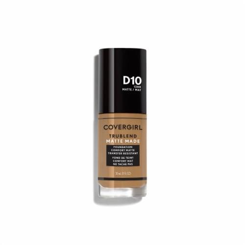 CoverGirl TruBlend D10 Golden Caramel Matte Liquid Foundation Perspective: front