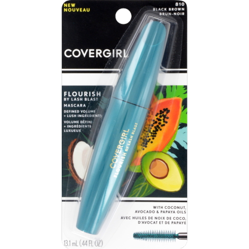 CoverGirl Flourish Lash Blast 810 Black Brown Mascara Perspective: front
