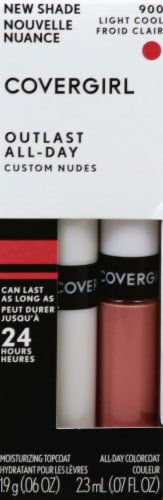 CoverGirl Outlast Custom Nudes 900 Light Cool Two-Step Lip Color Perspective: front