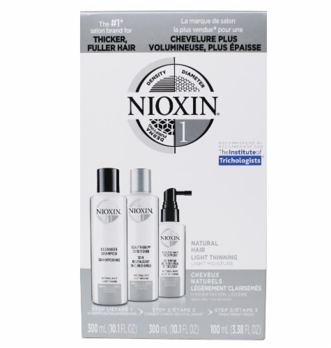 Nioxin Natural Hair Shampoo Conditioner & Hair Treatment Set Perspective: front