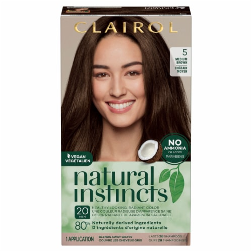Clairol Natural Instincts 5 Medium Brown Semi-Permanent Hair Color Perspective: front