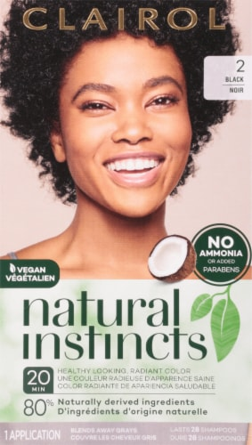 Clairol Natural Instincts 2 Black Hair Dye Kit Perspective: front