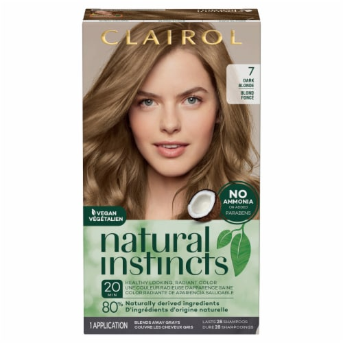 Clairol Healthy Looking Natural Instincts 7 Dark Blonde Hair Color Perspective: front