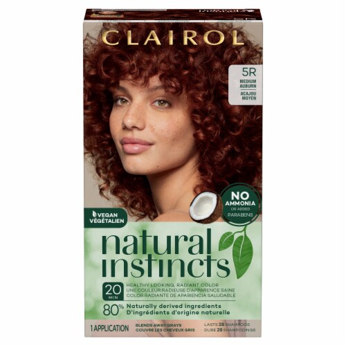 Clairol Healthy Looking Natural Instincts 5R Medium Auburn Hair Color Perspective: front
