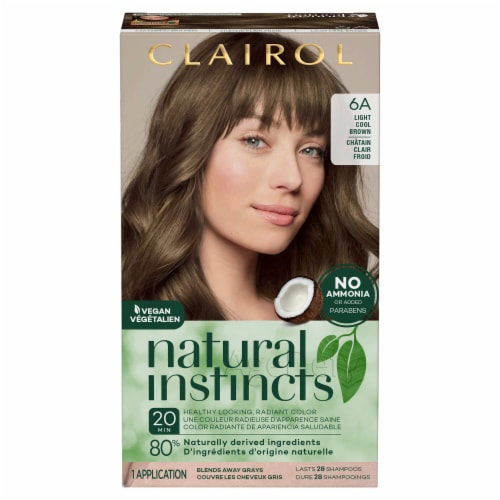 Clairol Natural Instincts Light Cool Brown 6A Semi-Permanent Hair Color Perspective: front