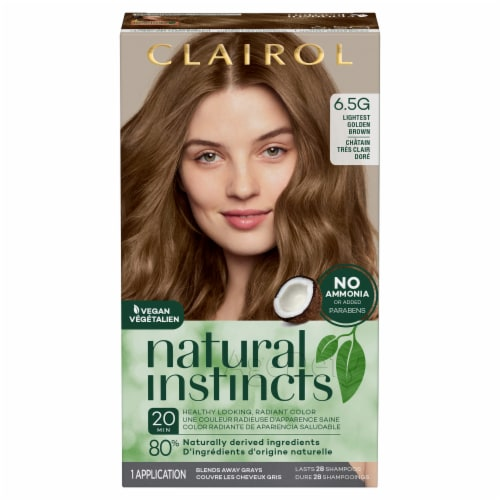 Clairol Healthy Looking Natural Instincts 6.5G Lightest Golden Brown Hair Color Perspective: front