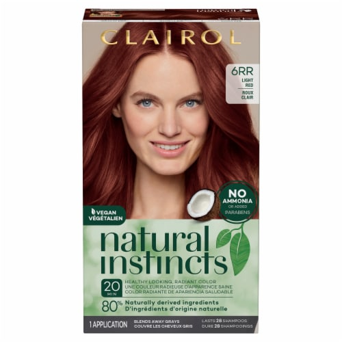 Natural Instincts 6RR Light Red Hair Color Perspective: front
