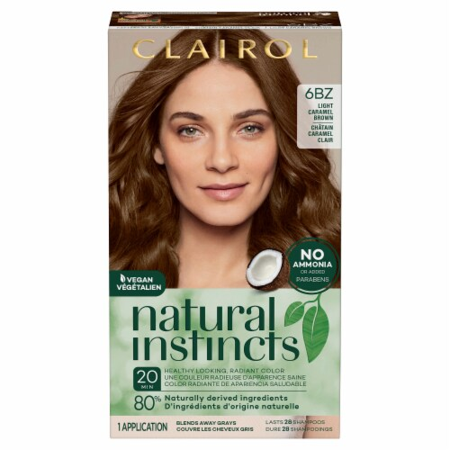 Clairol Natural Instincts Light Caramel Brown Semi-Permanent Hair Color Perspective: front