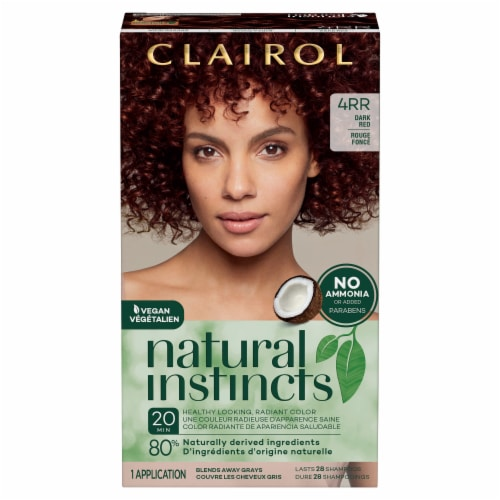 Natural Instincts 4RR Dark Red Hair Color Perspective: front