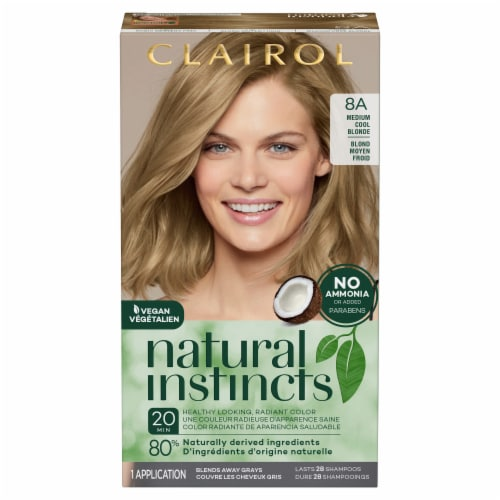 Clairol Natural Instincts 8A Medium Cool Blonde Hair Color Perspective: front