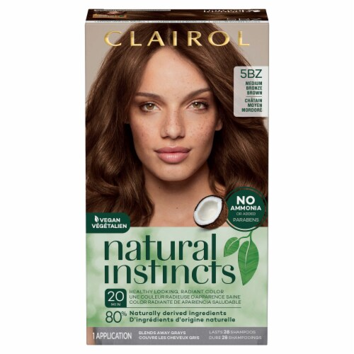 Clairol Natural Instincts 5BZ Medium Bronze Brown Hair Color Perspective: front