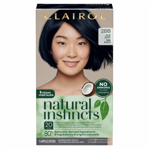Clairol Natural Instincts Blue Black 2BB Hair Color Kit Perspective: front