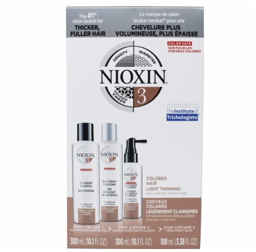 Nioxin Colored Hair Shampoo Conditioner & Hair Treatment Set Perspective: front
