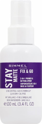 Rimmel Stay Matte Fix & Go 2-in-1 Primer and Setting Spray Perspective: front
