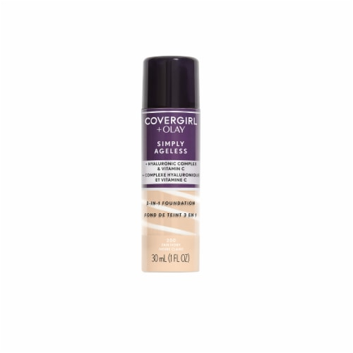 CoverGirl plus Olay Simply Ageless 200 Fair Ivory 3 in 1 Foundation Perspective: front