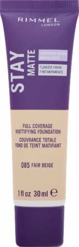 Rimmel Stay Matte 085 Fair Beige Foundation Perspective: front
