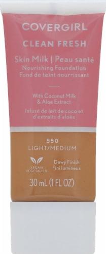 CoverGirl Clean Fresh Skin Milk 550 Light/Medium Nourishing Foundation Perspective: front