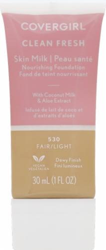 CoverGirl Clean Fresh Skin Milk 530 Fair/Light Nourishing Foundation Perspective: front