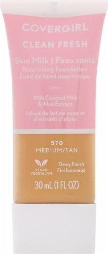 CoverGirl Clean Fresh Skin Milk 570 Medium/Tan Nourishing Foundation Perspective: front