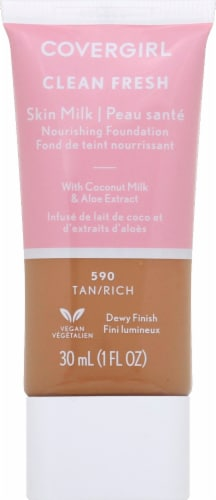 CoverGirl Clean Fresh Skin Milk 590 Tan/Rich Nourishing Foundation Perspective: front