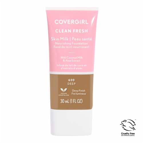 CoverGirl Clean Fresh 620 Deep Skin Milk Nourishing Foundation Perspective: front