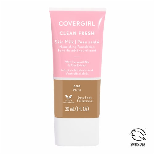 CoverGirl Clean Fresh 600 Rich Skin Milk Nourishing Foundation Perspective: front