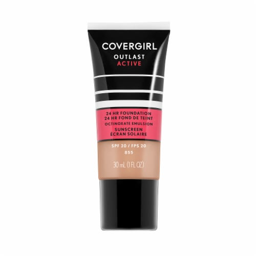 CoverGirl Outlast Active 24 Hour 855 Soft Honey Liquid Foundation Perspective: front