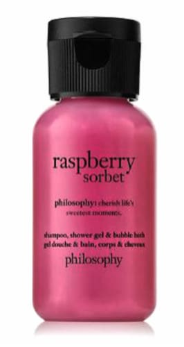 Philosophy Raspberry Sorbet Mini Shampoo Shower Gel & Bubble Bath Perspective: front