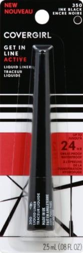 CoverGirl Get In Line 350 Ink Black Liquid Eyeliner Perspective: front