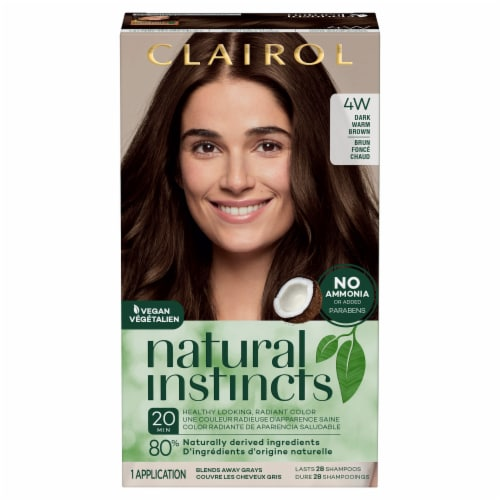 Natural Instincts 4W Dark Warm Brown Hair Color Perspective: front
