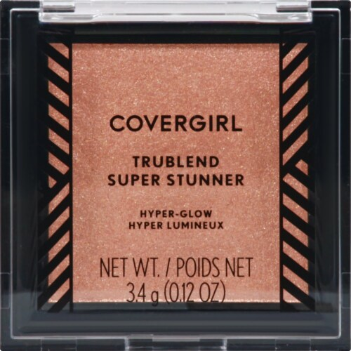 CoverGirl Trublend Super Stunner Hyper-Glow Glided Glory Highlighter Powder Perspective: front