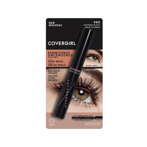 CoverGirl Exhibitionist Uncensored 980 Extreme Black Mascara Perspective: front