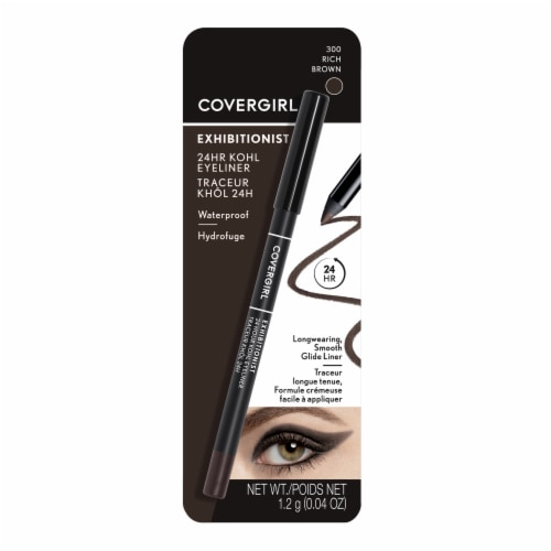 CoverGirl Exhibitionist 24 Hour 300 Rich Brown Kohl Eyeliner Perspective: front