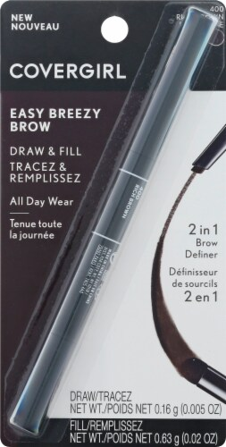 CoverGirl Easy Breezy Draw & Fill 400 Rich Brown 2-in-1 Brow Definer Perspective: front