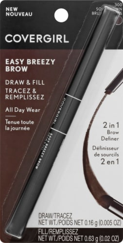CoverGirl Easy Breezy Draw & Fill 300 Soft Brown 2-in-1 Brow Definer Perspective: front