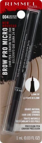 Rimmel London Pro Micro Dark Brown Precision-Stroke Brow Pen Perspective: front