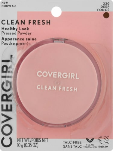 CoverGirl Clean Fresh 220 Deep Healthy Glow Pressed Powder Perspective: front