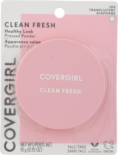 CoverGirl Clean Fresh Tanslucent 100 Healthy Look Pressed Powder Perspective: front