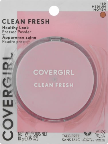 CoverGirl Clean Fresh 160 Medium Healthy Glow Pressed Powder Perspective: front