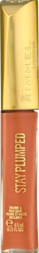Rimmel London Stay Plumped Peach Pie Lip Gloss Perspective: front