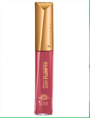 Rimmel Stay Plumped 211 Mauve Mama Lip Gloss Perspective: front