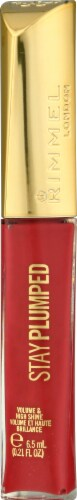 Rimmel Stay Plumped Raspberry Sundae Lip Gloss Perspective: front