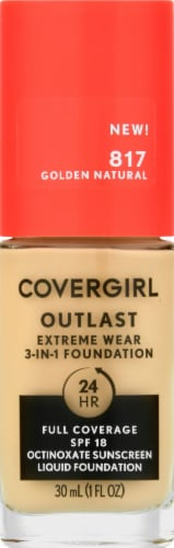 CoverGirl Outlast Extreme Wear 817 Golden Natural Foundation Perspective: front