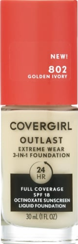 CoverGirl Outlast Extreme Wear 802 Golden Ivory Foundation Perspective: front