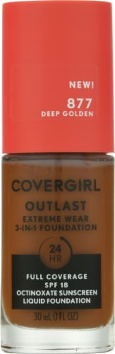 CoverGirl Extreme Wear 877 Deep Golden Foundation Perspective: front