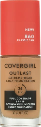 CoverGirl Outlast Extreme Wear 860 Tawny Foundation Perspective: front