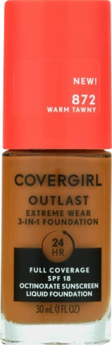 CoverGirl Outlast Extreme Wear 872 Warm Tawny Foundation Perspective: front