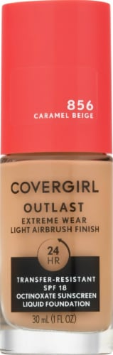 CoverGirl Outlast Extreme Wear 856 Caramel Beige Foundation Perspective: front