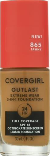 CoverGirl Outlast Extreme Wear 865 Tawny Foundation Perspective: front